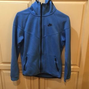 Nike tech fleece hoodie sweatshirt blue small